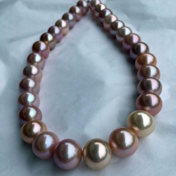 Kasumigaura-Zuchtperl-Strang-AAA+-13,1-15,9 mm-natur pink-aprikot-rund-l-unrund