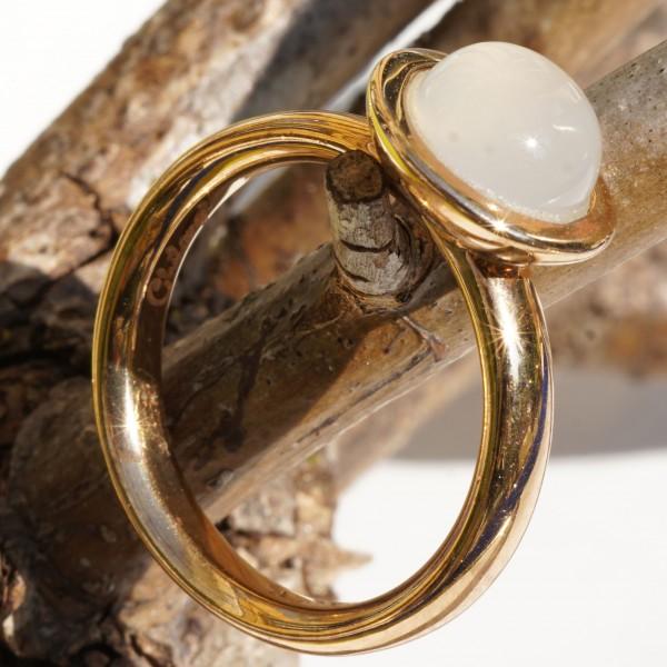 Chilango Ring Calzedon weiss 925er Silber rosevergoldet