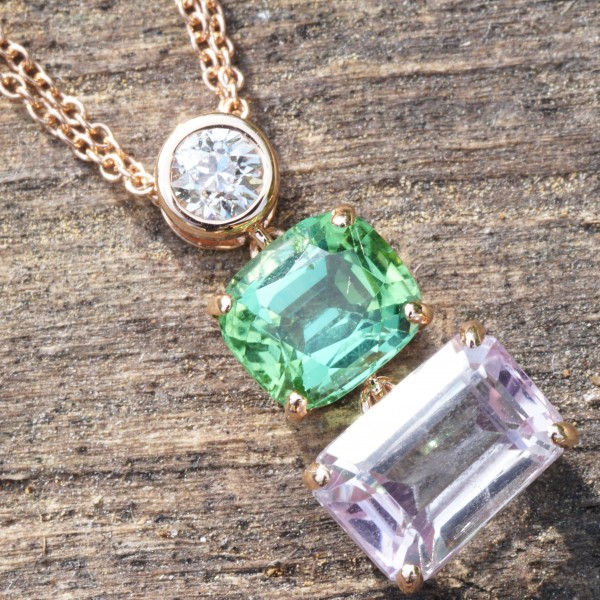 Flower Colors for you Soul..bluish green Turmalin from Afghanistan and....Morganite
