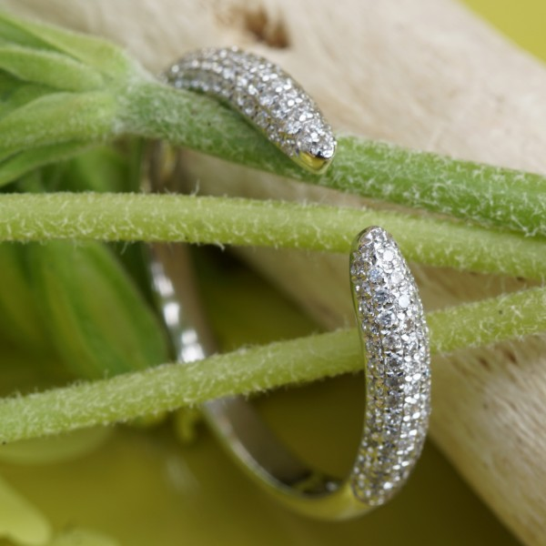 Brillant Ring 0.25 ct W-TCR / SI-P 750er Weissgold New Age idealer Kombinationsring