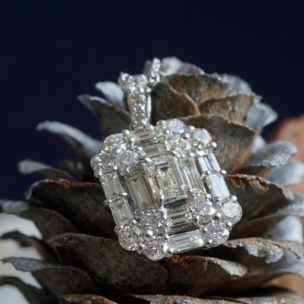 Brillant Diamant Anhänger in 750er Weissgold